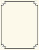 Simple Blank Frame with Fleur De Lis