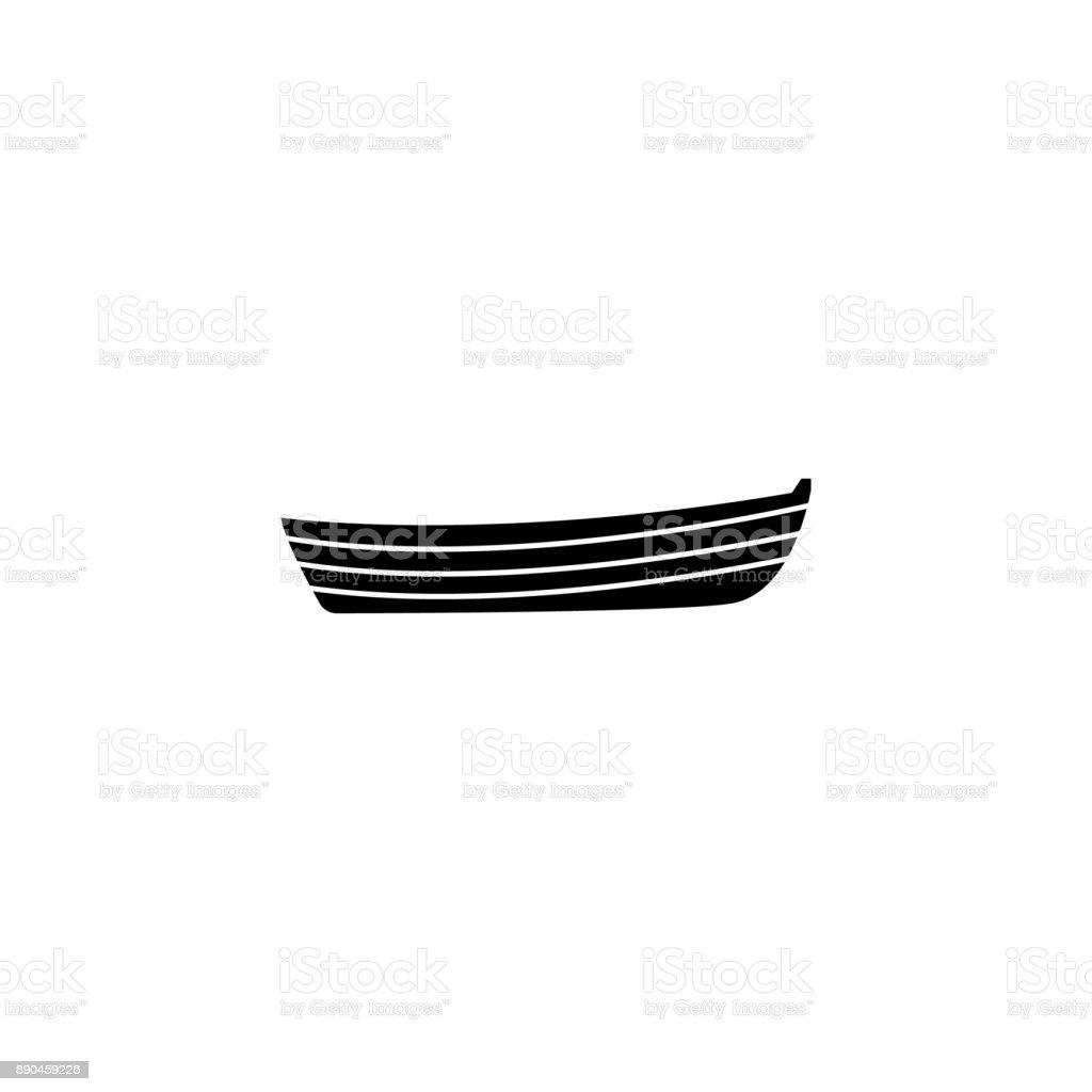 icône de bateau simple. Éléments de transport de l'eau. Icône de conception graphique de qualité Premium. Icône simple pour sites Web, design web, application mobile, graphiques d'informations - Illustration vectorielle
