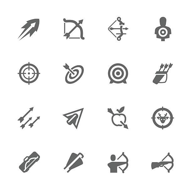 Simple Arcos de la iconos de flechas y - ilustración de arte vectorial