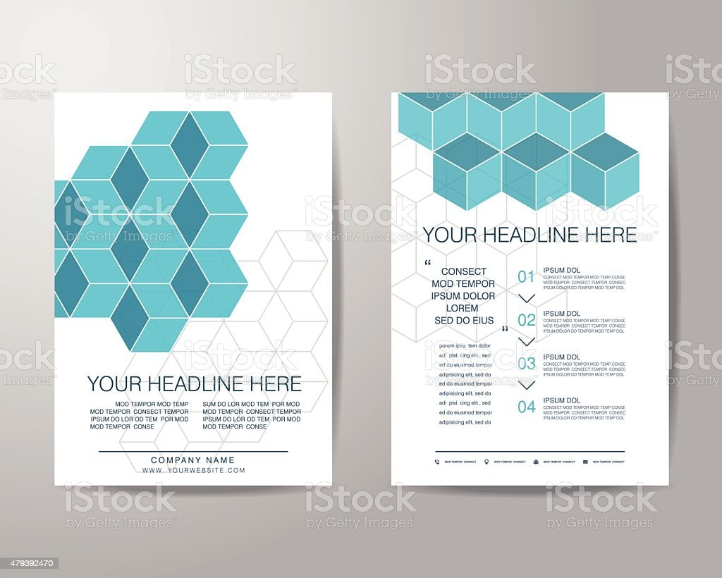 Simple Box Brochure Flyer Design Layout Template In A4 Size