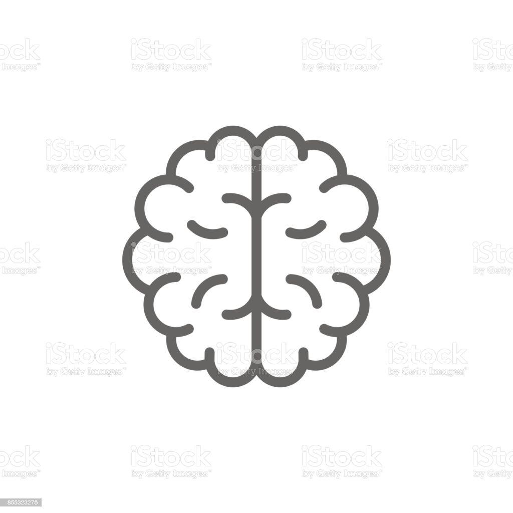 Simple Brain Line Icon Symbol And Sign Vector Illustration Design ...