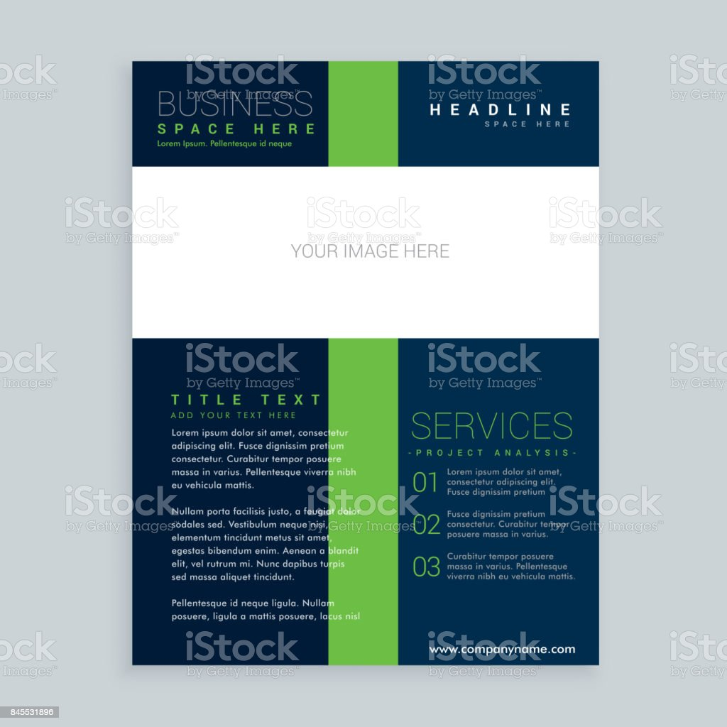 Simple Brochure Cover Flyer Template Design For Your Business Stock