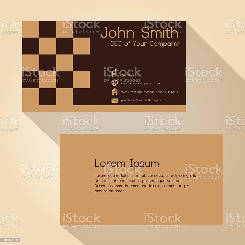 Simple Brun Blocky Carte De Visite Design Eps10 Stock Vecteur Libres Droits Libre