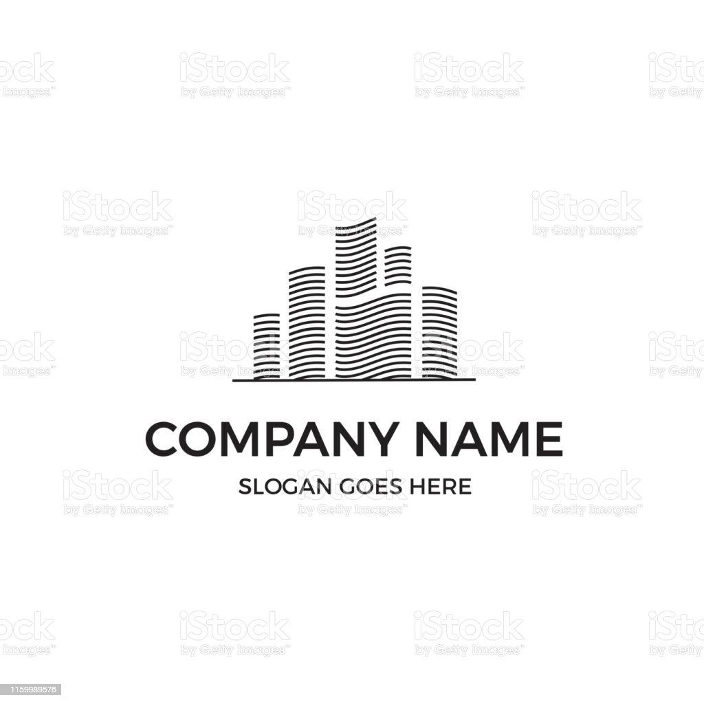 Simple Building Line Logo Design Inspiration Stock Illustration Download Image Now Istock