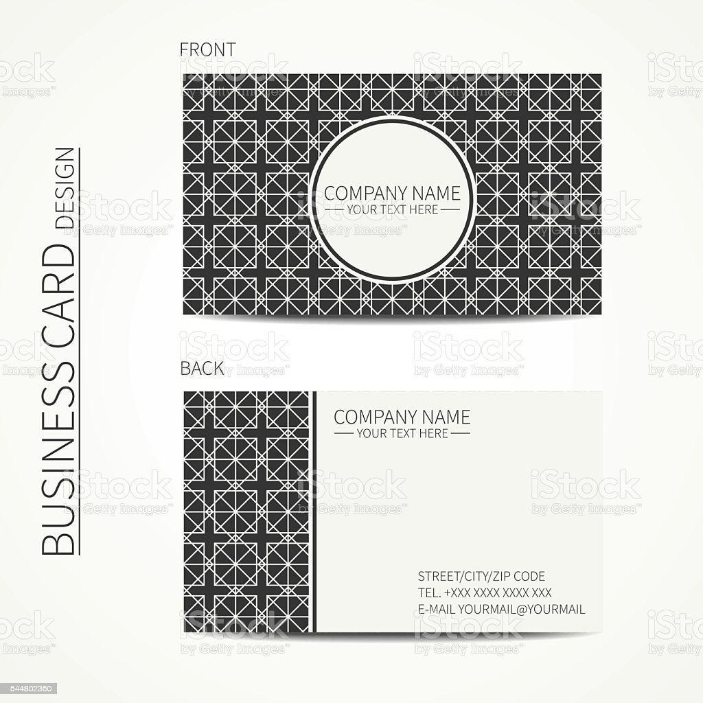 Simple Business Card Design For Corporate And Personal Use Royalty Free