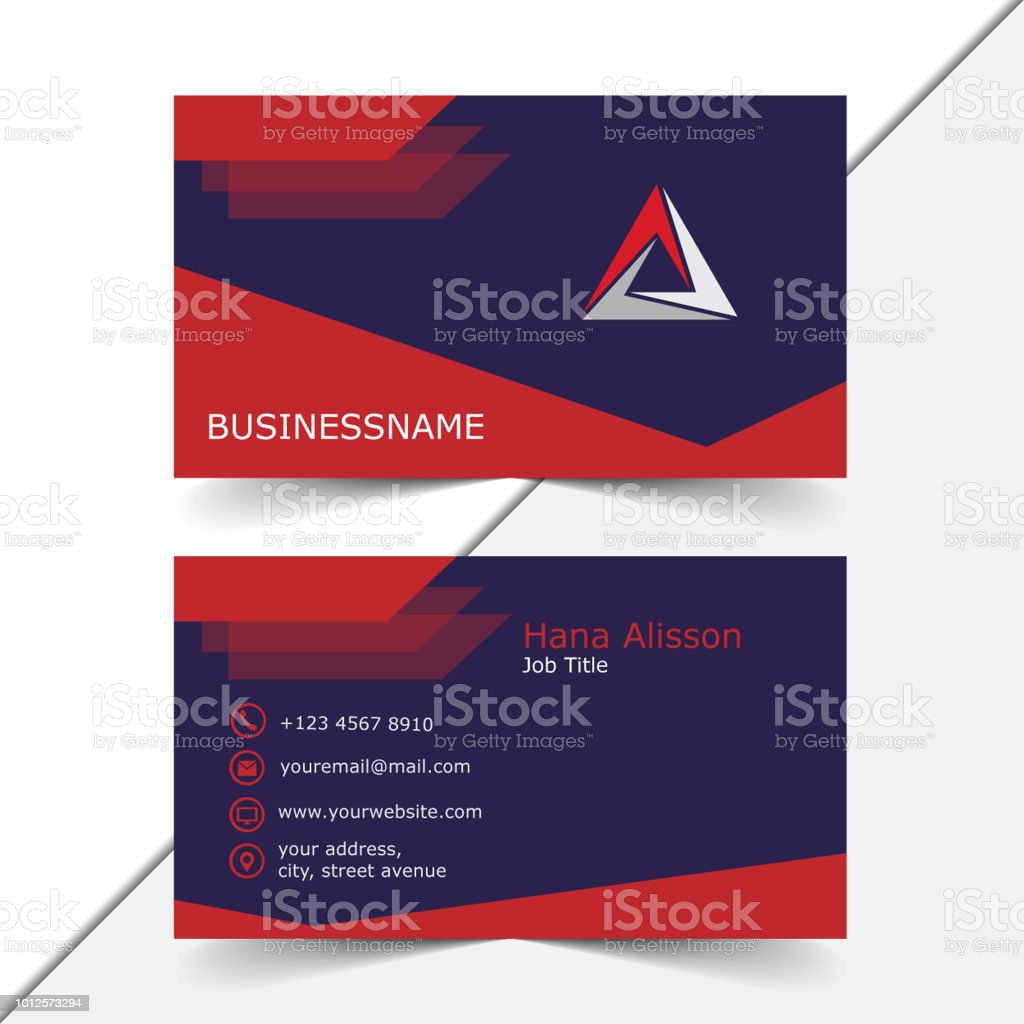 Simple business card template in red and blue stock vector art simple business card template in red and blue royalty free simple business card template in wajeb Image collections