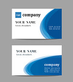 simple business name card set template