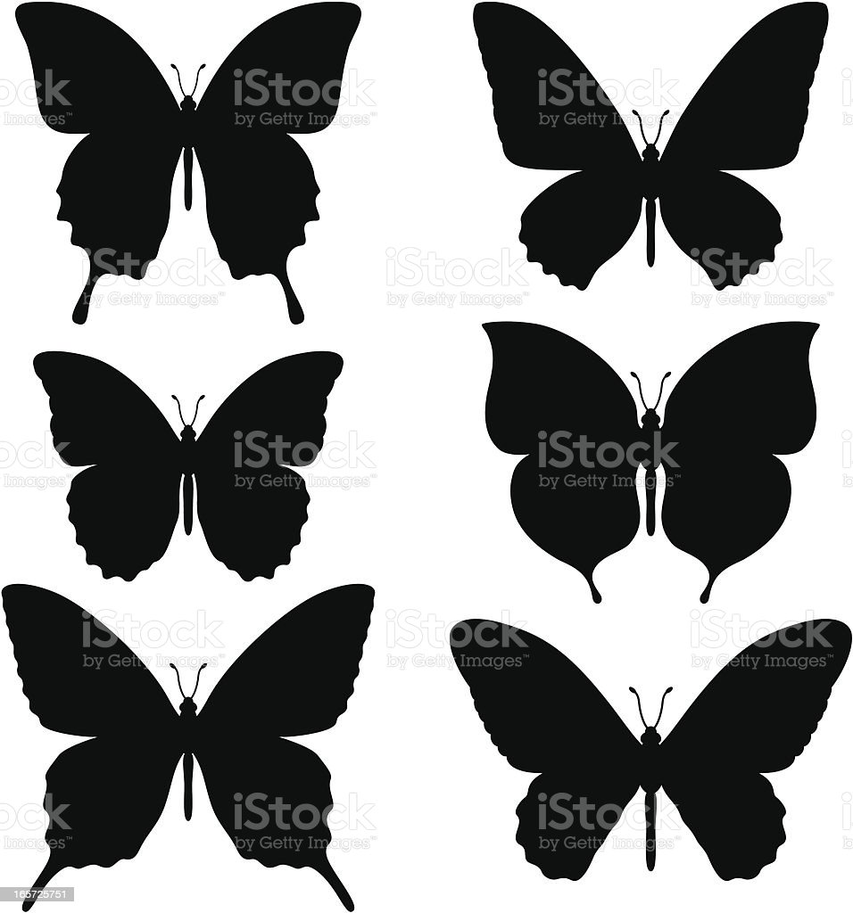 Simple butterfly shapes royalty-free simple butterfly shapes stock vector art & more images of animal