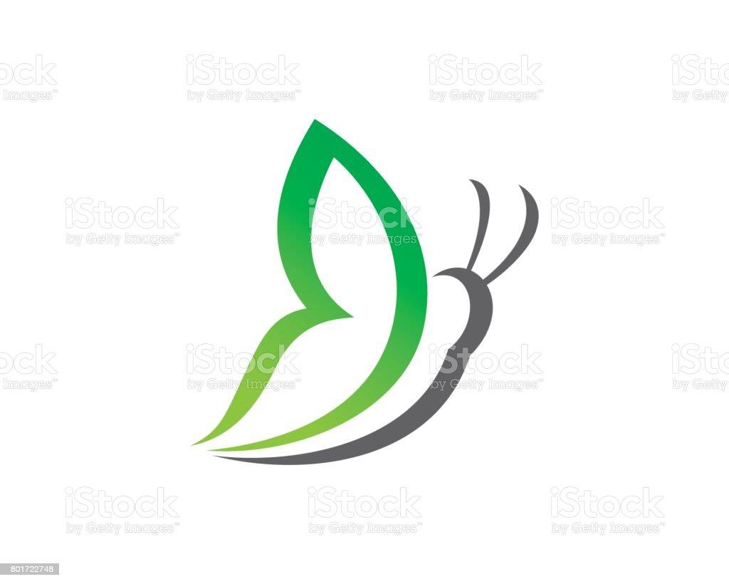Ilustración de Plantilla Diseño Vector De Mariposa Simple Símbolo ...
