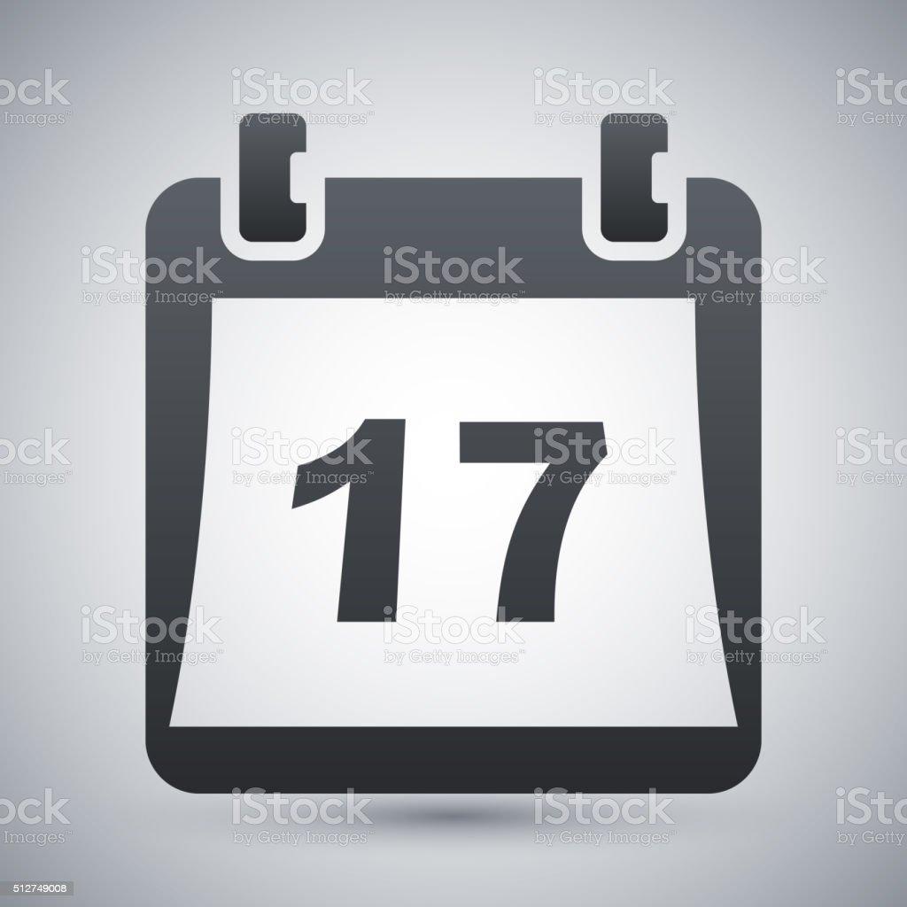 Einfache Kalender-Symbol, Vektor-illustration – Vektorgrafik