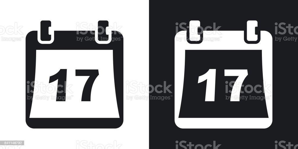 Einfache Kalender-Symbol, Vektor-illustration. – Vektorgrafik