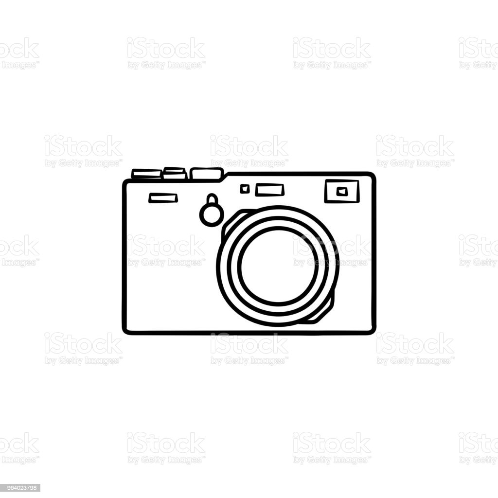 Simple Camera Hand Drawn Outline Doodle Icon Royalty Free