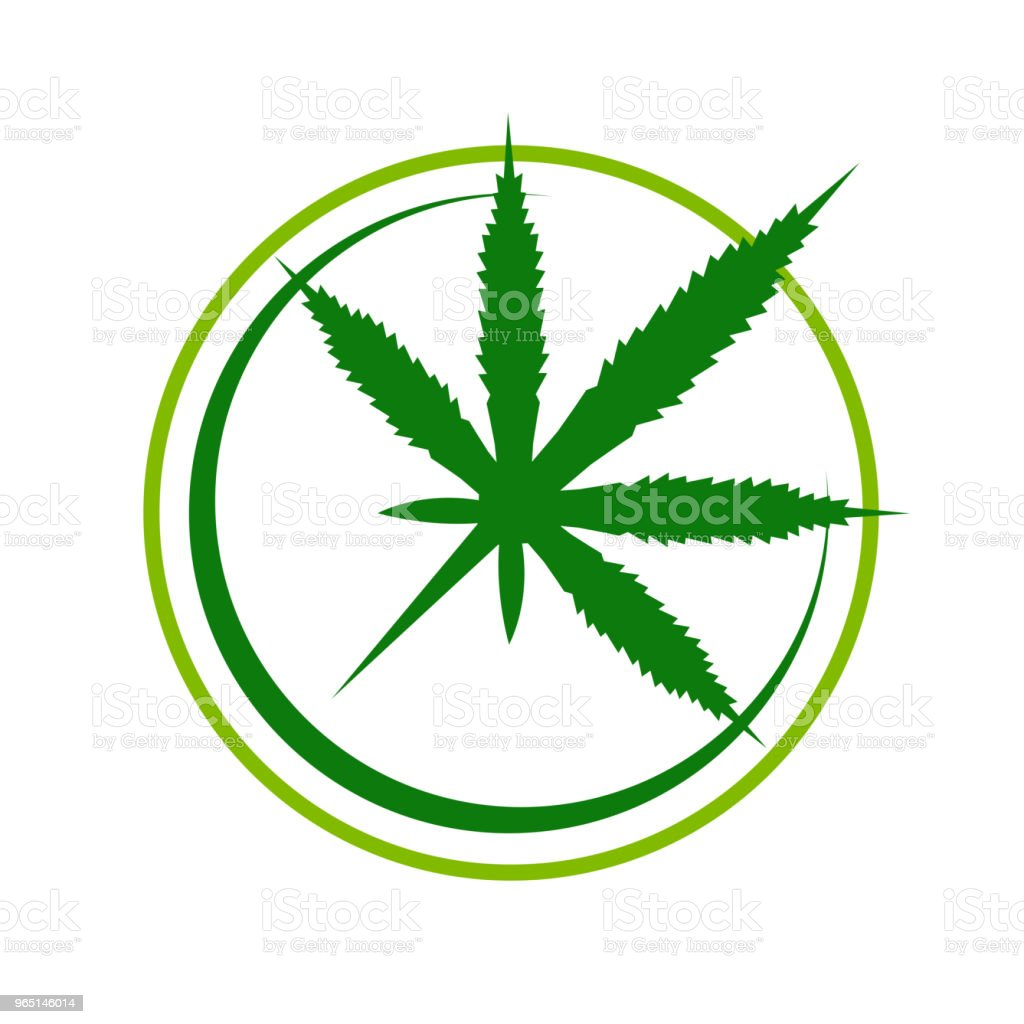 Simple Cannabis Compass Symbol Design royalty-free simple cannabis compass symbol design stock illustration - download image now