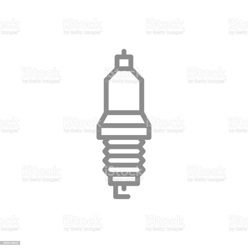 Einfaches Auto Kerze Zündkerze Liniensymbol Symbol Und Zeichen ...