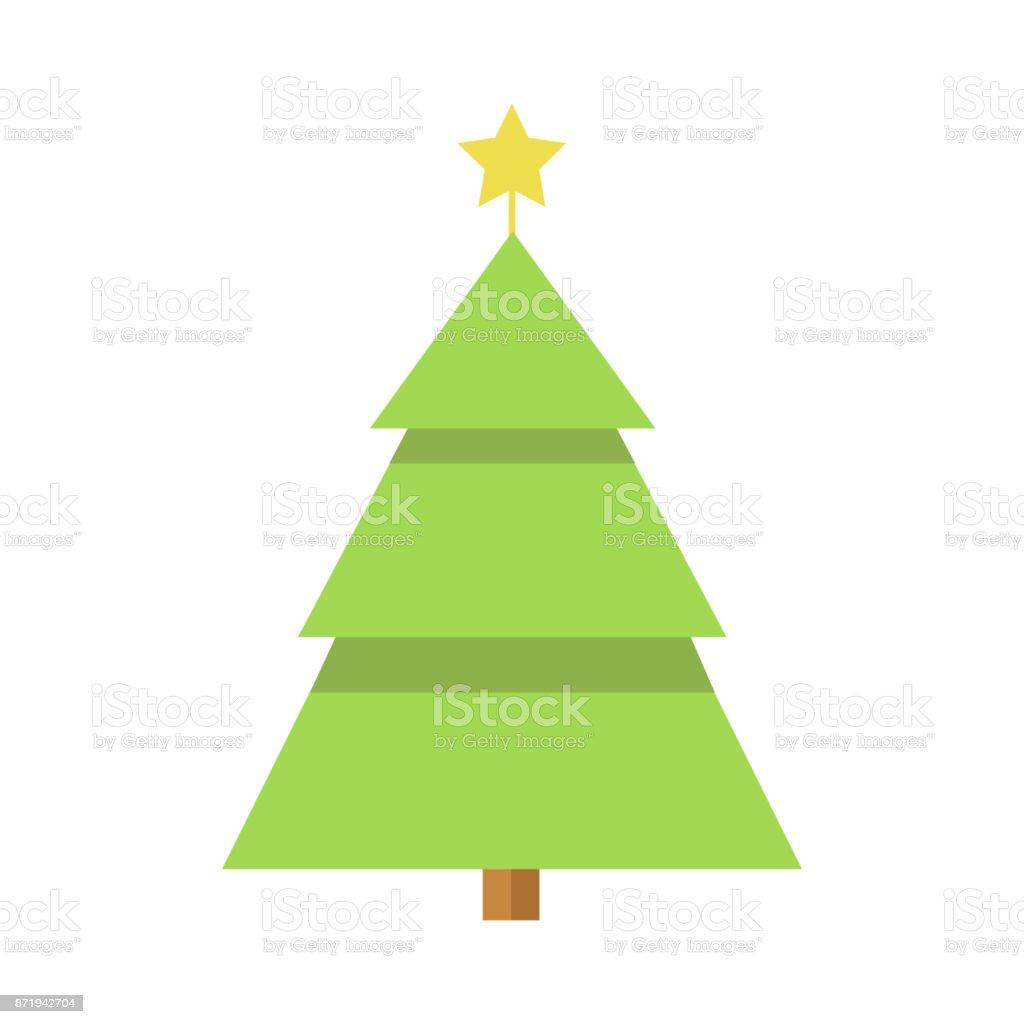 Ilustración De Pino De Navidad Estrellas Simples Dibujos Animados Y