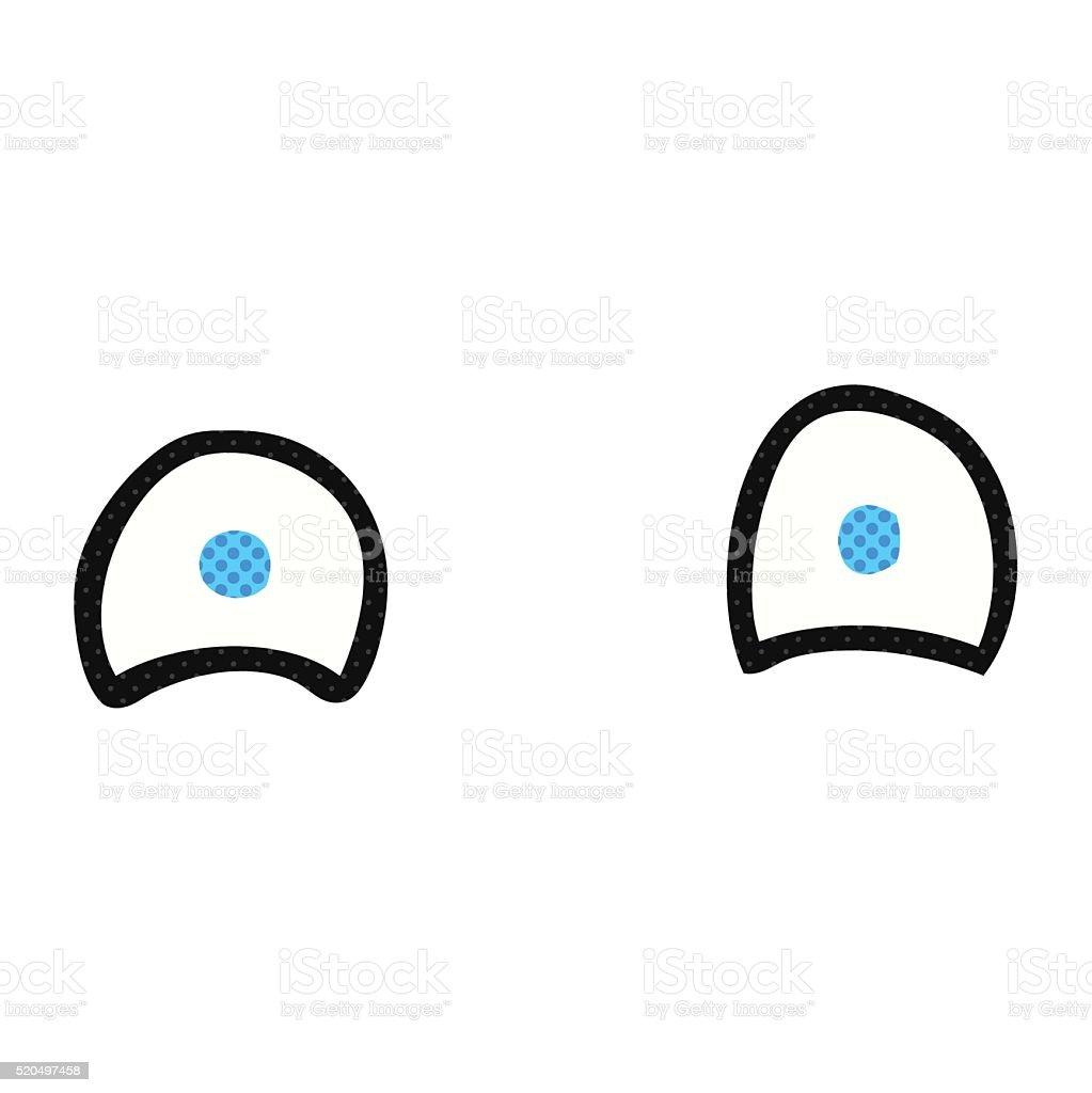 Simple Cartoon Eyes Stock Illustration Download Image Now Istock