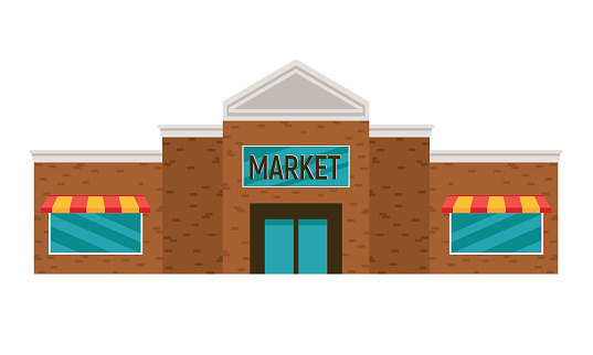 Simple Cartoon Grocery Store