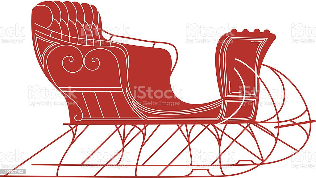 Simple Cartoon Sleigh royalty-free simple cartoon sleigh stock vector art & more images of antique