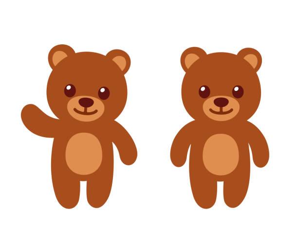 simple cartoon teddy bear - bear stock illustrations