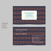 simple casual vector business card set
