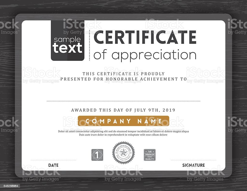 Simple Certificate Border Frame Design Template Stock Vector Art