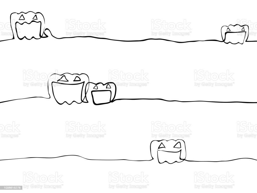 Ilustración de Línea Infantil Simple Arte Doodle Calabaza Jack ...