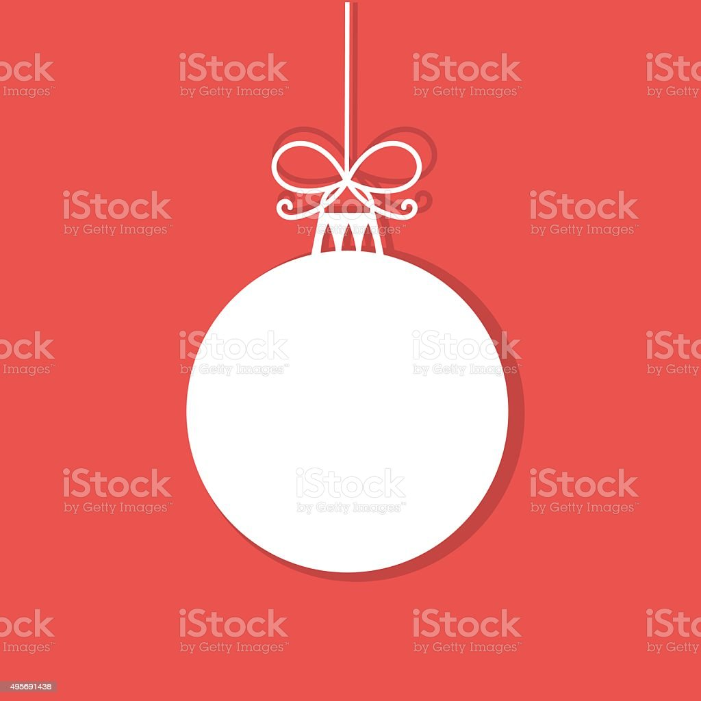 Simple Christmas bauble vector art illustration