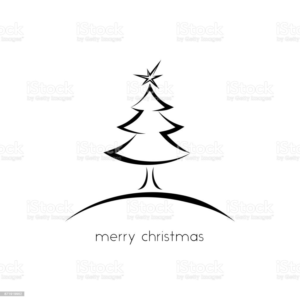 Simple Christmas Greeting Card Stock Vector Art More Images Of