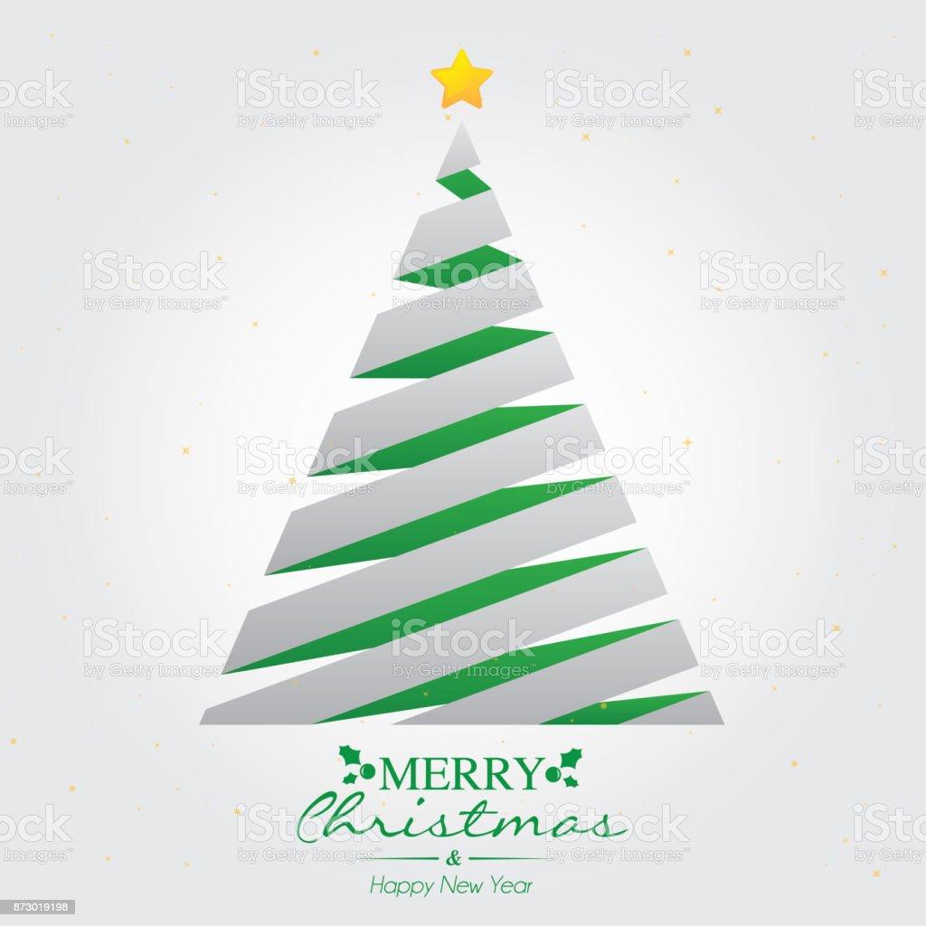 Basit Noel ağacı vektör sanat illüstrasyonu