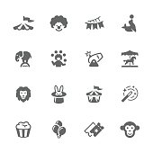 Simple Circus Icons