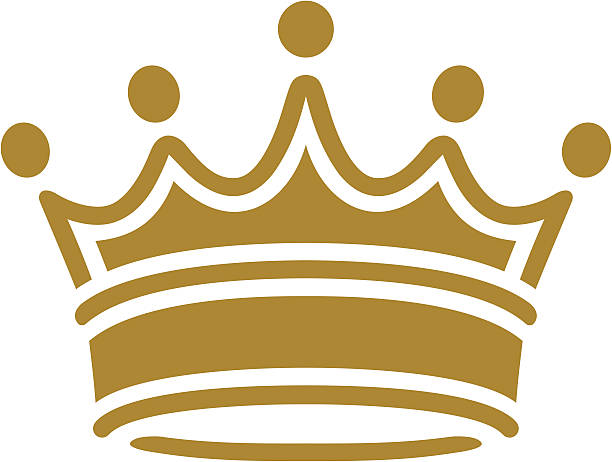 simple clásico corona - ilustración de arte vectorial