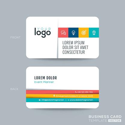 simple clean business card design