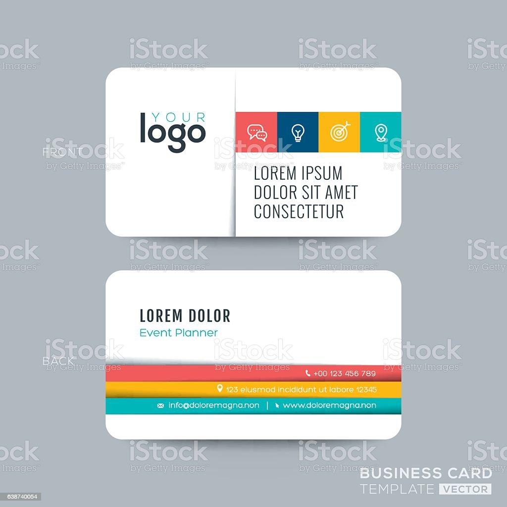 simple clean business card design vector art illustration