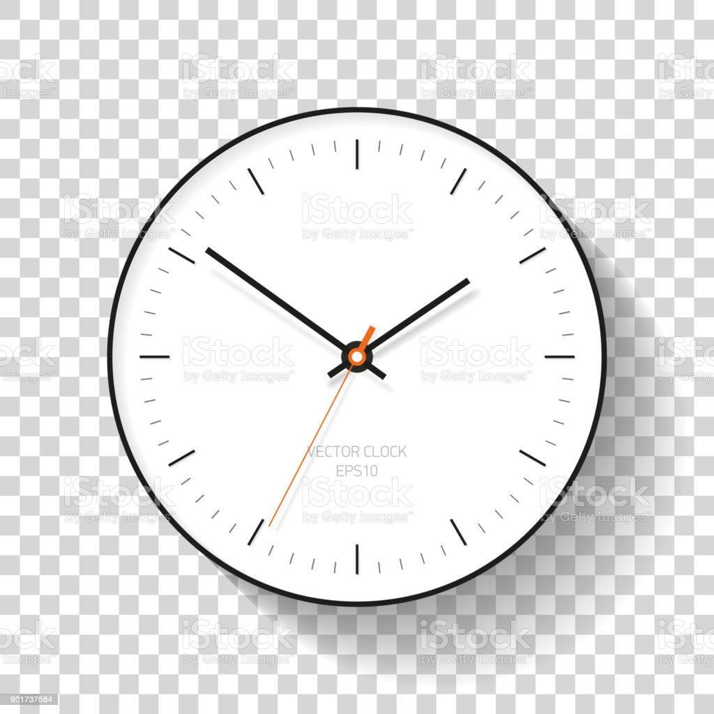 Simple Clock Icon In Flat Style Minimalistic Timer On Transparent Background Business Watch
