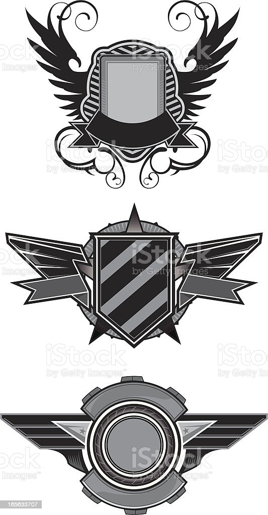 simple coat of arms royalty-free stock vector art