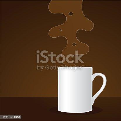 Simple coffee mug with steam