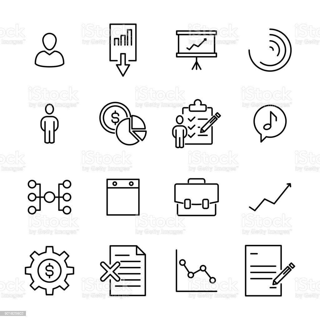 Einfache Erfassung Von Unternehmen Im Zusammenhang Mit Linie Symbole ...