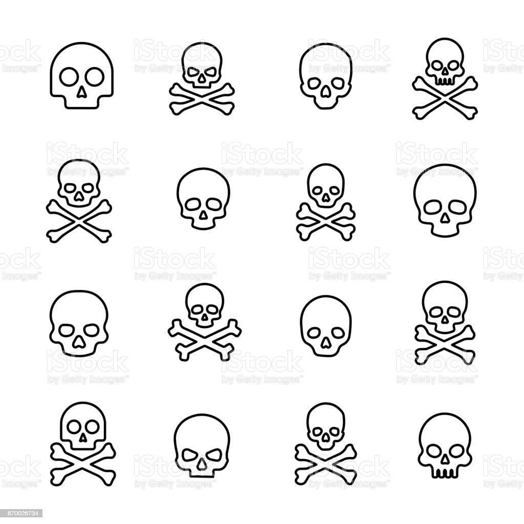 Eenvoudige collectie van dood gerelateerde lijn pictogrammen - Royalty-free Afbeelding vectorkunst