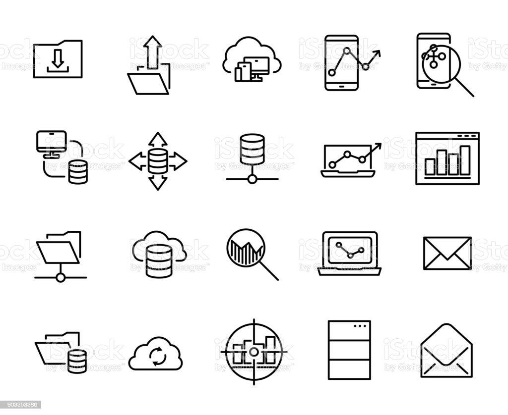 Einfache Erfassung Der Zugehörigen Zeile Symbole Programmieren Stock ...