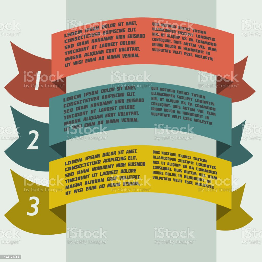 simple color infographics with banners royalty-free stock vector art