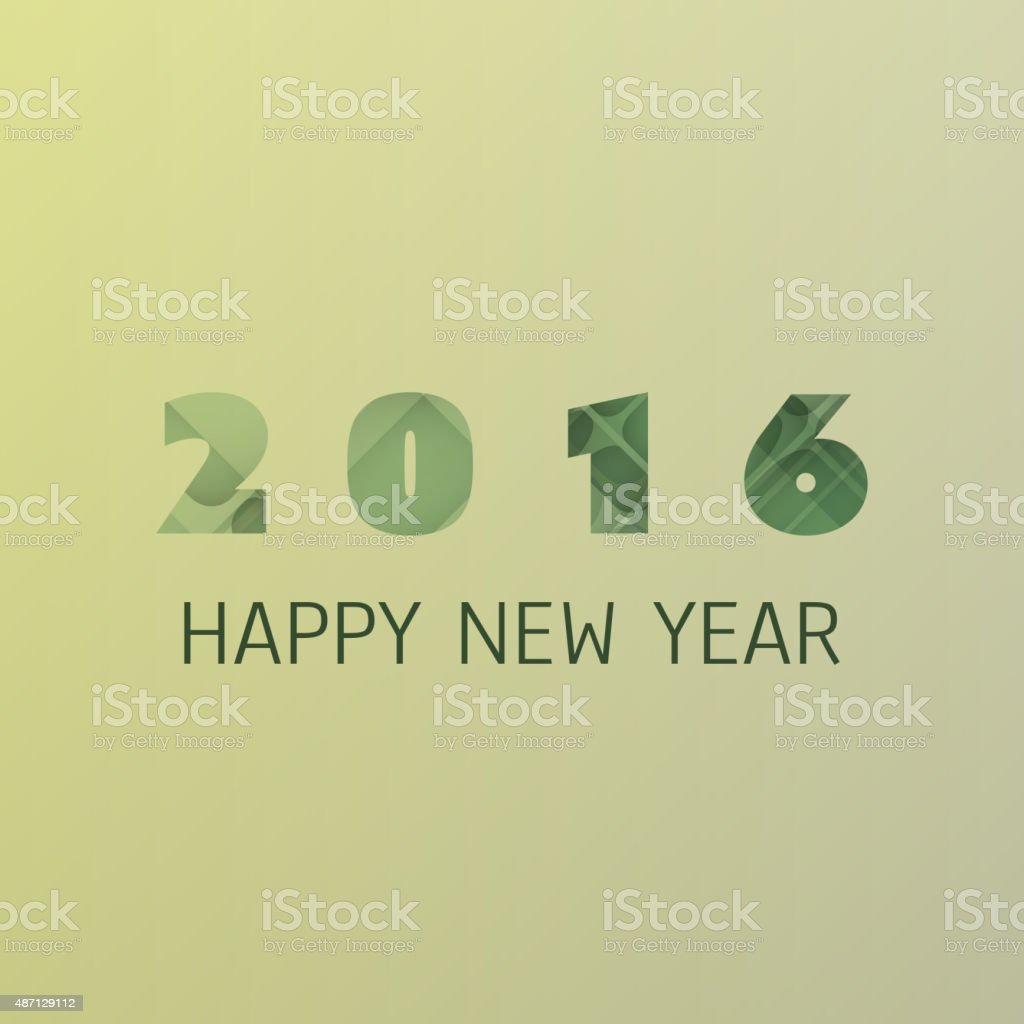 simple colorful new year card background design template 2016 royalty free simple colorful