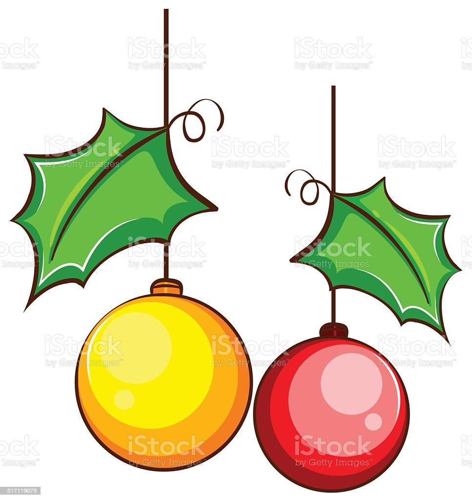 Simple Couleur Dessin Dun Décor De Noël Vecteurs Libres De