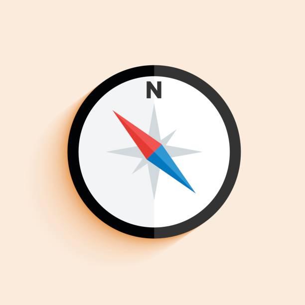 Simple compass icon vector art illustration