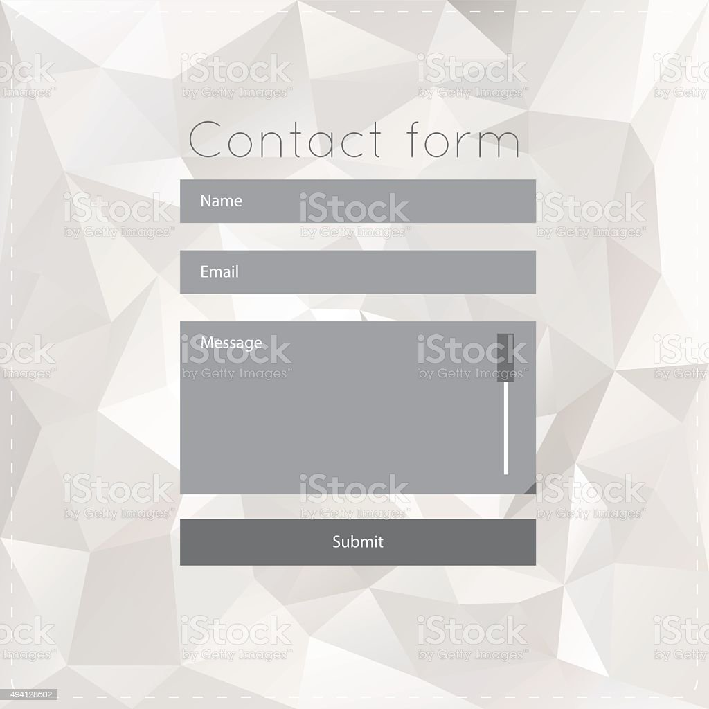 Simple contact us form templates. vector art illustration