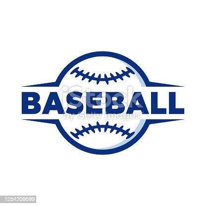 istock simple cool baseball logo design 1254209599