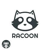 istock simple cool Racoon head logo design inspiration 1252872125