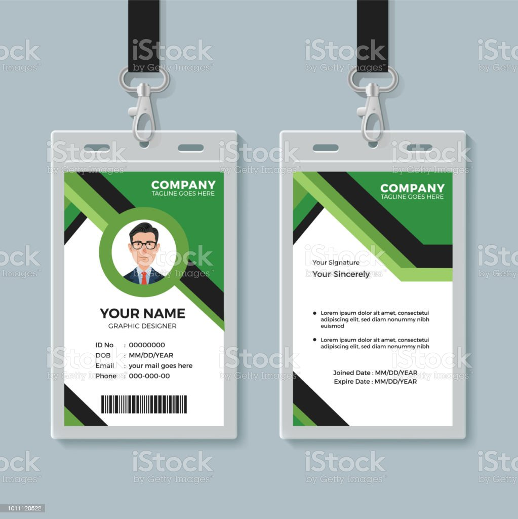 simple corporate office identity card design template stock vector
