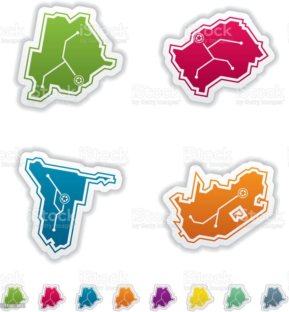 Simple Country Icons royalty-free stock vector art