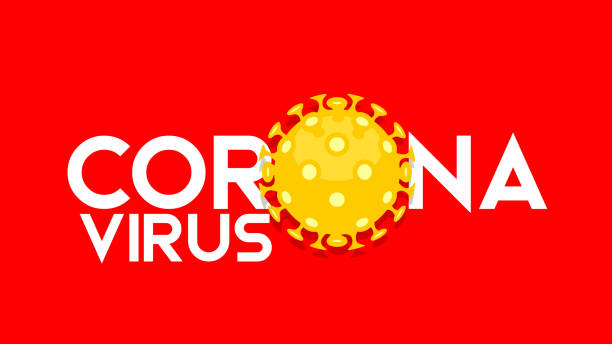 simple wuhan coronavirus outbreak influenza as dangerous flu strain cases as a pandemic concept banner flat style illustration - virus stock illustrations