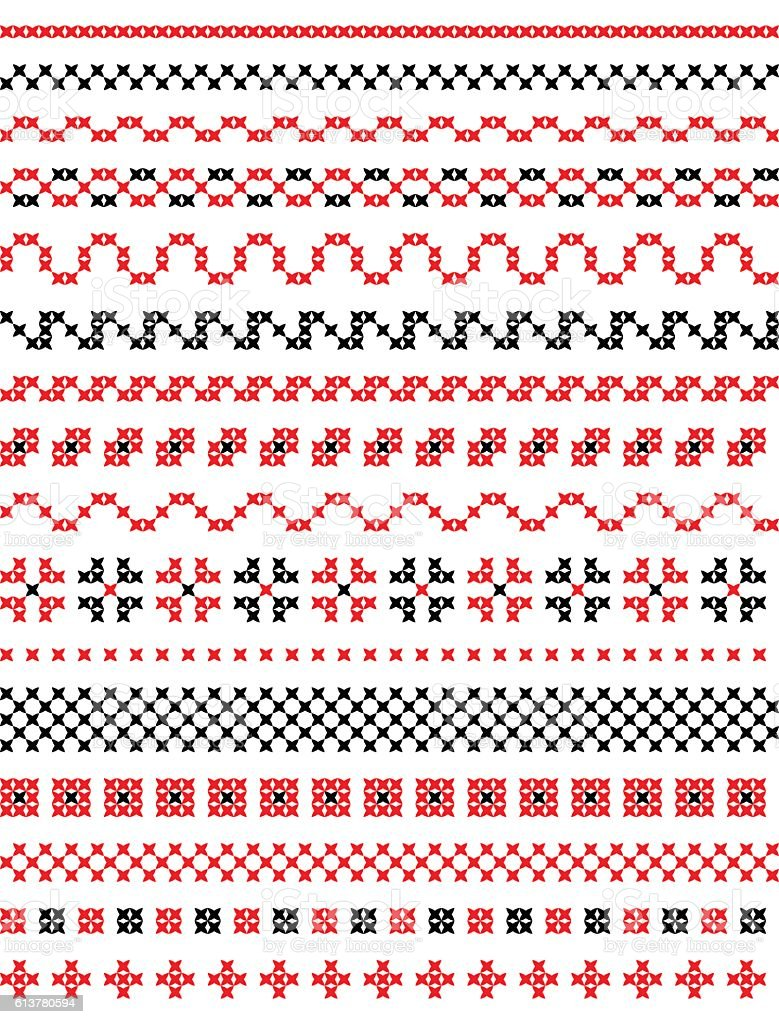 simple cross stitch vector art illustration